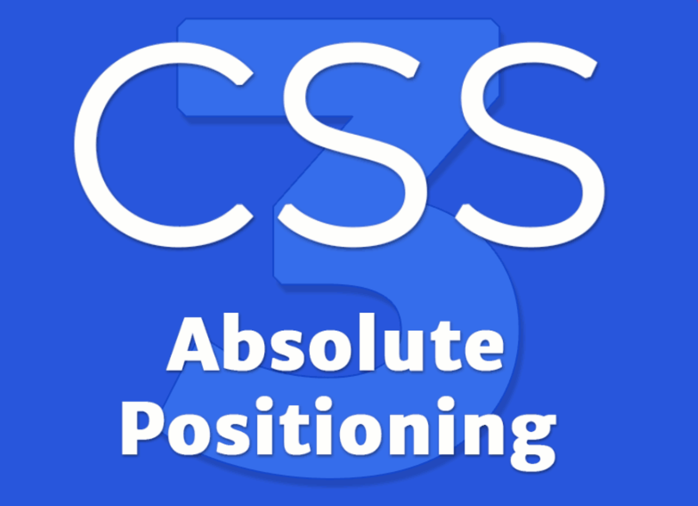 Position absolute in CSS